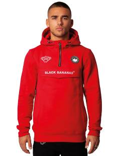 Black Bananas  Black Bananas ANORAK PULL-UP HOODY Hoodies red