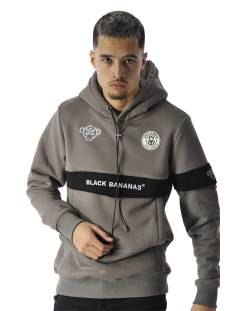 Black Bananas  Black Bananas ANORAK CAPTAIN HOODY Hoodies grey
