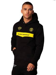 Black Bananas  Black Bananas ANORAK NEON HOODY Hoodies black/yellow