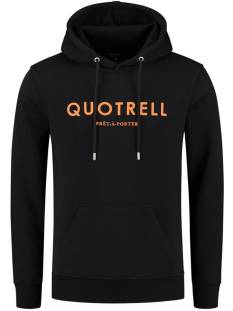 Quotrell  Quotrell BASIC HOODIE HS00002 Hoodies 1109 black orange