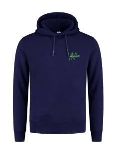 Malelions DOUBLE SIGNATURE HOOD. FW20-2-01 Hoodies 310 navy/green
