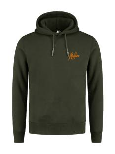 Malelions DOUBLE SIGNATURE HOOD. FW20-2-01 Groen