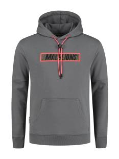 Malelions  Malelions MM-SS21-1-09 PERCEPTION HOODIE Hoodies 215 matt grey/neon red