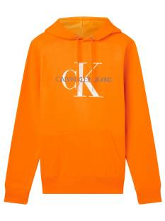 Calvin Klein  Calvin Klein J30J314557 MONOGRAM REG HOODIE Hoodies saa shocking orange