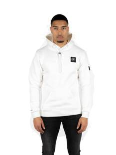 Quotrell  Quotrell COMMODORE HOODIE HS00004 Hoodies 1112 off white