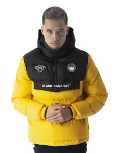 Black Bananas Jas Black Bananas ANORAK BLOCK JACKET Winterjassen yellow