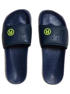 Superdry Schoen Superdry MF3002SQ LINEMAN POOL SLIDE Slippers dakr navy 50t